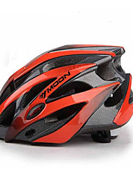 cheap -MOON Cycling Helmet Black+Red PC+EPS 25 Vents MTB Protective