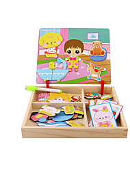 abordables -Puzzle Puzles de Madera Puzles y juguetes de lógica Juguete Educativo Juguetes Cuadrado Manualidades Madera Papel Niños 1 Piezas
