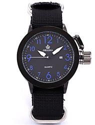 Недорогие -Муж. Модные часы Кварцевый Цифровой силиконовый Нейлон Черный 30 m Аналоговый Красный Синий