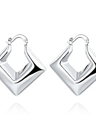 cheap -Women's Adorable Silver Plated Hoop Earrings - Personalized / Geometric / Unique Design Silver Triangle Earrings For Wedding / Party /