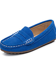 Boys' Loafers & Slip-Ons Spring Summer Fall Moccasin Suede Outdoor Athletic Casual Flat Heel Blue