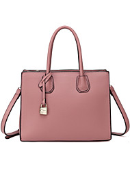 cheap -Women's Bags PU Tote for Casual All Seasons Blushing Pink Pale Pink Dark Green Deep Blue