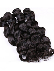 New Arrival 6Pcs/Lot 8-26inch Malaysia Virgin Loose Wavy Hair Natural Black Wavy Human Hair Bundles.
