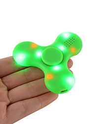 Fidget Spinner Hand Spinner Bluetooth Speaker Built in Fingertip gyroscope Speakers LED Light Tri-Spinner Fidget Anti Stress Speaker