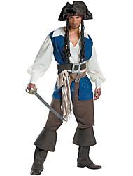 Costumi da pirata Cosplay Costumi Cosplay Stile Carnevale di Venezia Uomo Halloween Carnevale Feste/vacanze Costumi Halloween Bianco + blu