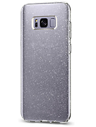 cheap -For Samsung Galaxy S8 Plus S8 Case Cover Flash Powder Triple IMD Technology TPU Phone Case
