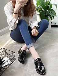 cheap -Women's Boots T-Strap Rubber Summer Casual Flat Heel Black Flat