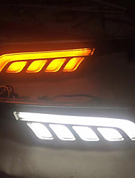 cheap -VW Golf 7 LED DRL Turn Signal Lamp Kit White/Yellow Colors(Left/Right Side LED Lamp Kit)