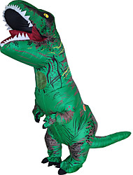 cheap -T-REX Costume Inflatable Dinosaur Costume Anime Expo Traje De Dinosaurio Inflable Blowup Disfraces Adultos Costume For Adult With Two Blowers Green