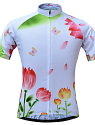 JESOCYCLING Maglia da ciclismo Per donna Manica corta Bicicletta Maglietta/Maglia Asciugatura rapida Traspirante Tasca posteriore Comodo