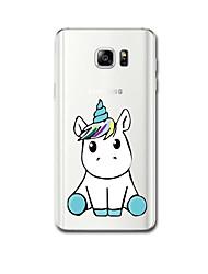 economico -Per Custodie cover Ultra sottile Fantasia/disegno Custodia posteriore Custodia Unicorno Morbido TPU per Samsung Note 5 Note 4 Note 3