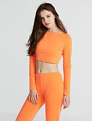 abordables -Mujer Blusa Conjunto - Un Color, Espalda al Aire Pantalón