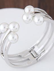 cheap -Women's Cuff Bracelet - Imitation Pearl Fashion Bracelet Gold / Silver For Party / Birthday