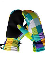 Ski-Handschuhe Kinder Sporthandschuhe warm halten Wasserdicht Windundurchlässig Atmungsaktiv Schweißtransportierend Schützend Skifahren