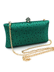 cheap -Women Bags PVC Evening Bag Rhinestone Crystal Chain for Wedding Event/Party Spring Summer Green