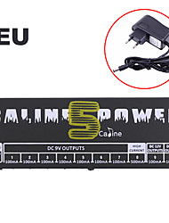 Caline CP-05 Power Supply for Effect Pedal with Blue LED Light Black plug is European standard