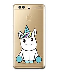 Para Carcasa Funda Ultrafina Diseños Cubierta Trasera Funda Unicornio Suave TPU para HuaweiHuawei P10 Plus Huawei P10 Huawei P9 Huawei P9