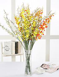 abordables -10 Une succursale Soie Orchidées Fleur de Table Fleurs artificielles