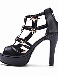 Women's Heels Star Rivet Club Shoes Gladiator Letter Sandals Stiletto HeelRivet
