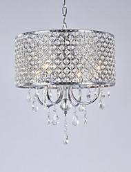 cheap -Drum Modern/Contemporary Crystal Chandelier Ambient Light For Living Room Bedroom Dining Room 110-120V 220-240V Bulb Not Included
