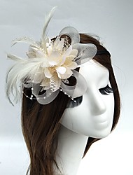 cheap -Tulle / Feather / Net Headbands / Fascinators / Hats 1 Wedding / Special Occasion Headpiece