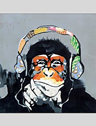 cheap -Oil Paintings Gorilla Canvas Material With Wooden Stretcher Ready To Hang Size60*60CM and 70*70CM .