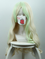 cheap -Little Witch Academia Diana Cavendish Long Curly Light Yellow And Green Ombre Anime Wig
