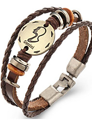 Недорогие -Муж. Жен. Кожаные браслеты Винтаж Кожа Геометрической формы Бижутерия Подарок
