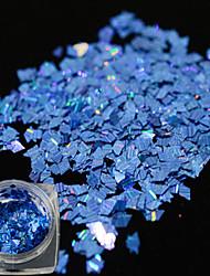 1 Bottle New Fashion Glitter Blue Design Nail Art Laser Stripe Rhombus Thin Slice Dazzling Paillette Decoration For Manicure DIY Beauty LW13