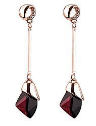 cheap -Women's Drop Synthetic Sapphire Drop Earrings - Euramerican Purple / Blue Earrings For Daily