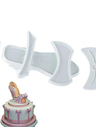 9Pcs/Set  Brand New Shape Plastic Sandal Fondant Mold Lady High-Heeled Shoe Cake Baking Mould