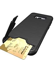 economico -Custodia Per Samsung Galaxy S8 Plus S8 Porta-carte di credito Resistente agli urti Custodia posteriore Tinta unica Resistente PC per S8