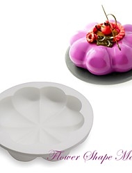 Daisy Petal Cake Mold Round Baking Mold 8 Petal White Silicone Mousse Cake Dessert Kitchen AccessoriesM-25