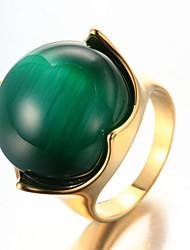 cheap -Men's Ring Statement Ring Acrylic White Green Blue Titanium Steel Geometric Personalized Euramerican Hip-Hop Fashion Rock Punk Party