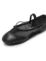 cheap -Women's Dance Shoes Fabric Ballet Flats Flat Heel Professional Black