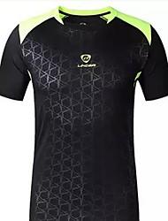 baratos -Homens Camiseta de Corrida Manga Curta Prova-de-Água Secagem Rápida Resistente Raios Ultravioleta Respirável Confortável Camiseta Pulôver