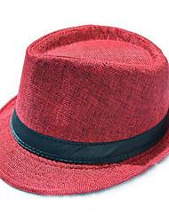 cheap -Men Unisex Hat Summer British Gentleman Cap Sir Linen Straw Hat