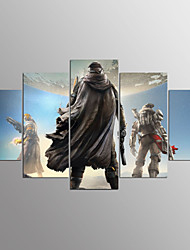 Stretched Canvas Print Cartoon Modern,Five Panels Canvas Any Shape Print Wall Decor For Home Decoration