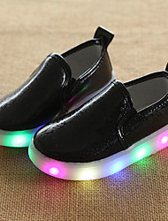 cheap -Boys' Shoes PU Summer Fall Comfort First Walkers Light Soles Light Up Shoes Luminous Shoe Loafers & Slip-Ons LED for Wedding Casual