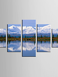 Giclee Print Landscape Style Modern,Five Panels Canvas Any Shape Print Wall Decor For Home Decoration