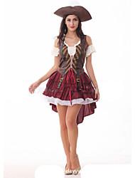Pirate Costumes de Cosplay Féminin Halloween Carnaval Fête / Célébration Déguisement d'Halloween Rouge Mode
