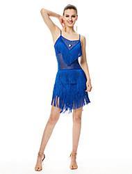 Dovremo abiti da ballo latino vestito in fibra di latte da performance delle donne