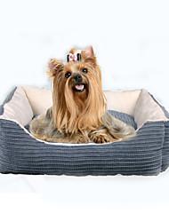 abordables -Gato Perro Camas Mascotas Colchonetas y Cojines Un Color Suave Beige Gris Para mascotas