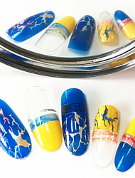 cheap -1pcs Fashion Colorful Design Nail Art 3D Stickers Lovely Irregular Magical Streak Design For Nail DIY Beauty F118