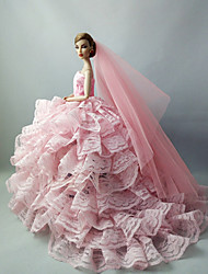 Wedding Dresses For Barbie Doll For Girl's Doll Toy