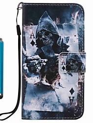 Pro iPhone X iPhone 8 Pouzdra a obaly Peněženka Pouzdro na karty se stojánkem Flip Vzor Oboustranný Carcasă Lebky Pevné Umělá kůže pro