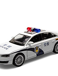 cheap -Toy Cars Toys Construction Vehicle Police car Toys Music & Light Square Metal Alloy Plastic Pieces Kids Gift