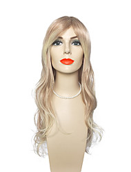 cheap -Synthetic Fiber Wig Long Deep Wave Wig Blonde Color Wig Wig for Women Costume Wig Cosplay Wigs