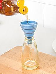 1pc 100% de alimentos padrão de funil de silício suave coleção de ferramentas de cozinha de óleo comestível