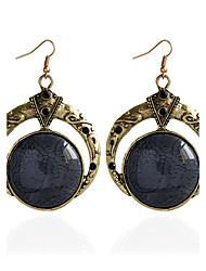 cheap -Women's Drop Earrings Earrings Multi-stone Circular Unique Design Vintage Basic Sexy British Turkish Handmade Fashion Simple Style